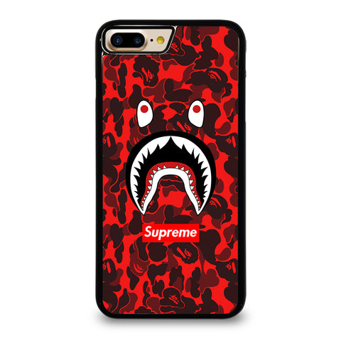 BAPE SHARK SUPREME CAMO RED-iphone-7-plus-case-cover