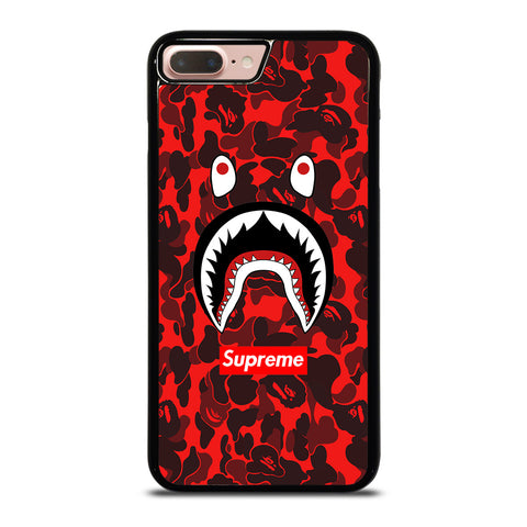 BAPE SHARK SUPREME CAMO RED-iphone-8-plus-case-cover