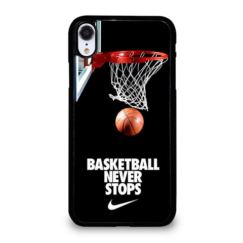 BASKETBALL NEVER STOPS-iphone-xr-case-cover