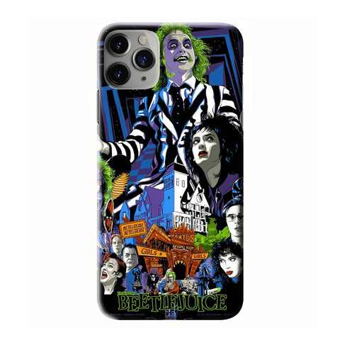 BEETLEJUICE TIM BURTON iPhone 6/6S 7 8 Plus X/XS XR 11 Pro Max 3D Case - Cool Custom Cover Personalized Design