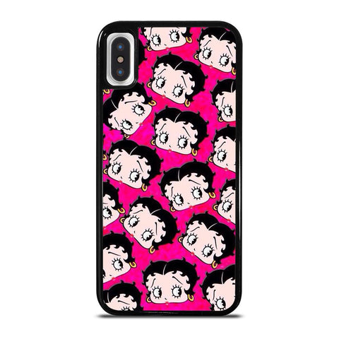 BETTY BOOP FACE COLLAGE-iphone-x-case-cover