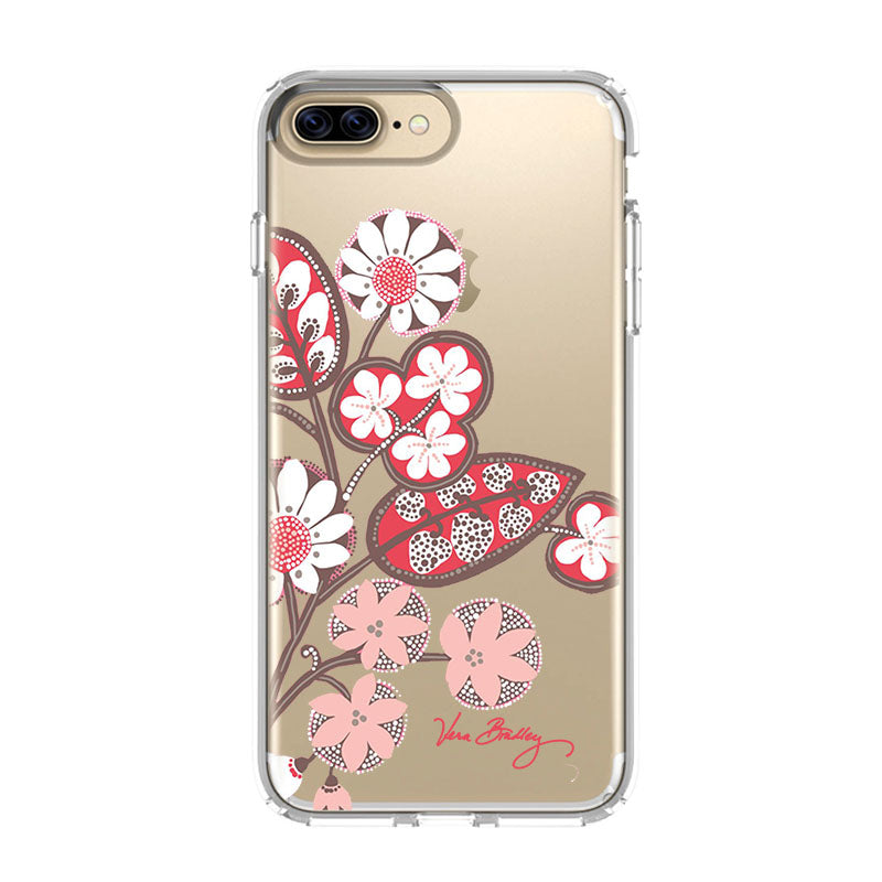 timeless design aaa15 f5c2c BLUSH PINK VERA BRADLEY iPhone 5/5S/SE 6/6S 7 8 Plus X/XS Max XR Clear Case  - Favocase