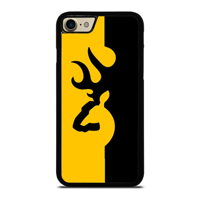 best service 832b5 cdb48 BROWNING LOGO BLACK YELLOW iPhone 7 Case Cover - Favocase