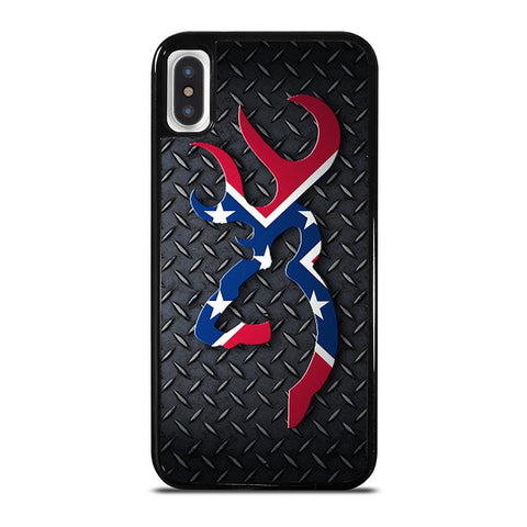 BROWNING REBEL FLAG METAL,-iphone-x-case-cover