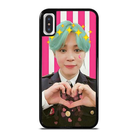 BTS CUTE HEART BANGTAN BOYS-iphone-x-case-cover