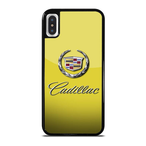 CADILLAC CAR LOGO YELLOW,-iphone-x-case-cover