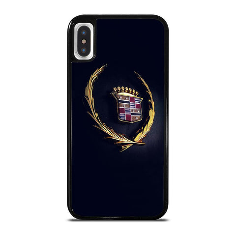 CADILLAC LOGO GOLD-iphone-x-case-cover