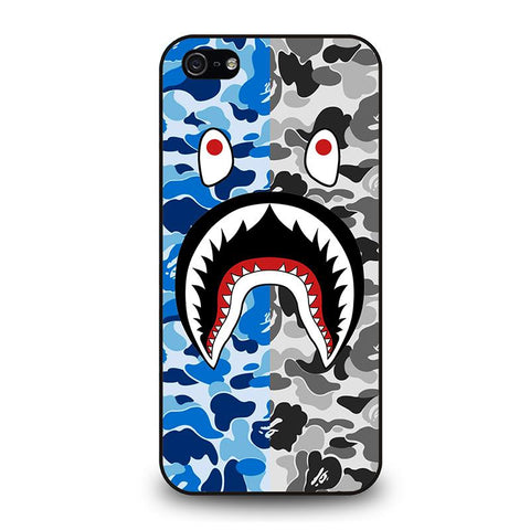 CAMO BAPE SHARK-iphone-5-5s-se-case-cover