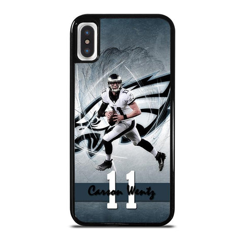 CARSON WENTZ 11 PHILADELPHIA EAGLES-iphone-x-case-cover
