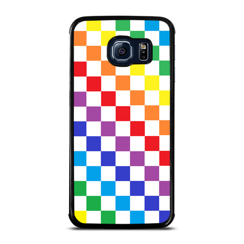 CHECKERED RAINBOW Samsung Galaxy S6 Edge Case Cover