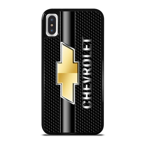 CHEVY CHEVROLET LOGO CARBON,-iphone-x-case-cover