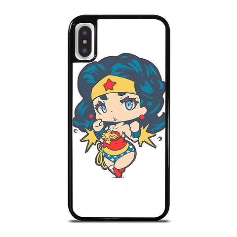 CHIBI WONDER WOMAN iPhone X / XS Case - Best Custom Phone Cover Cool Personalized Design