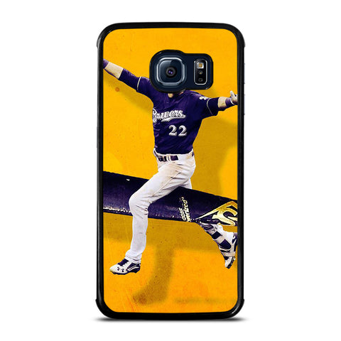 CHRISTIAN YELICH MILWAUKEE BREWERS Samsung Galaxy S6 Edge Case Cover