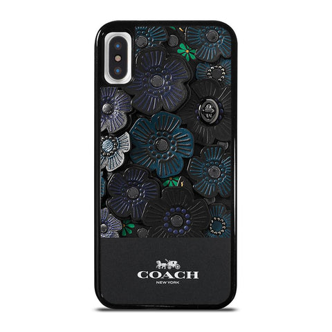 COACH NEW YORK BLACK TEA ROSE-iphone-x-case-cover