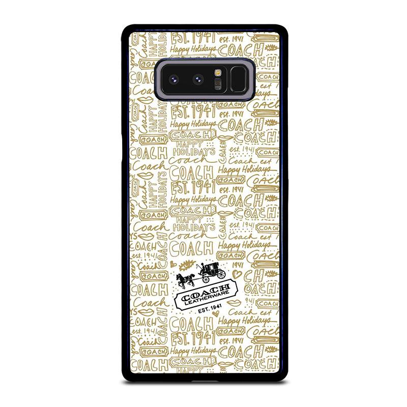 buy online 608e6 f84c0 COACH NEW YORK COLLAGE Samsung Galaxy Note 8 Case Cover - Favocase