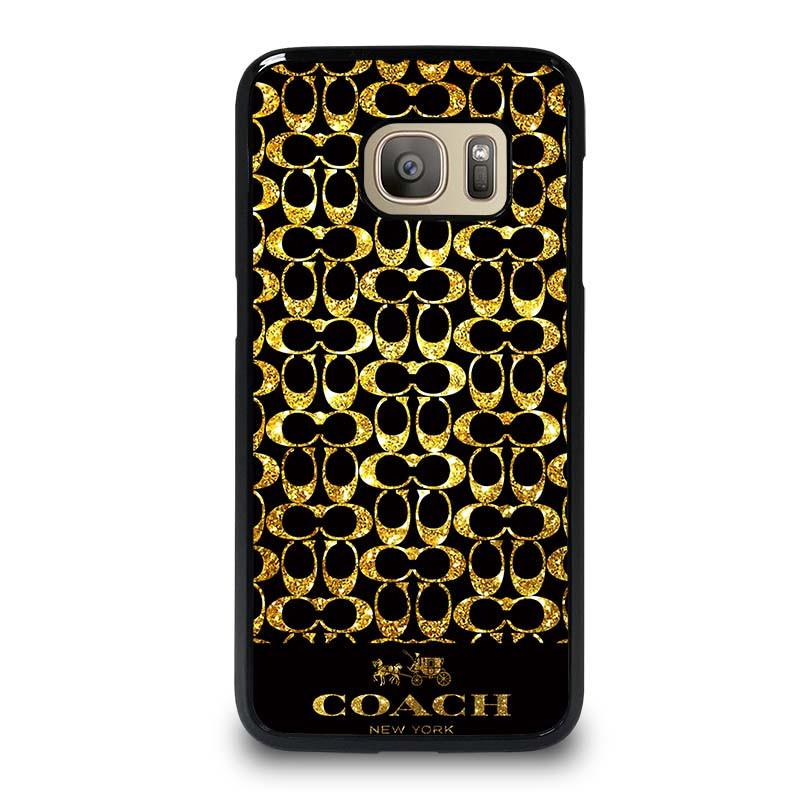 half off ebbfd 838b8 COACH NEW YORK GOLD Samsung Galaxy S7 Case Cover - Favocase