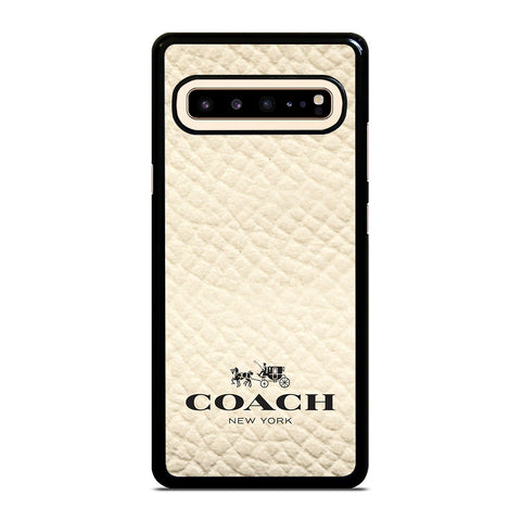 COACH NEW YORK WHITE-samsung-galaxy-s10-5g-case-cover