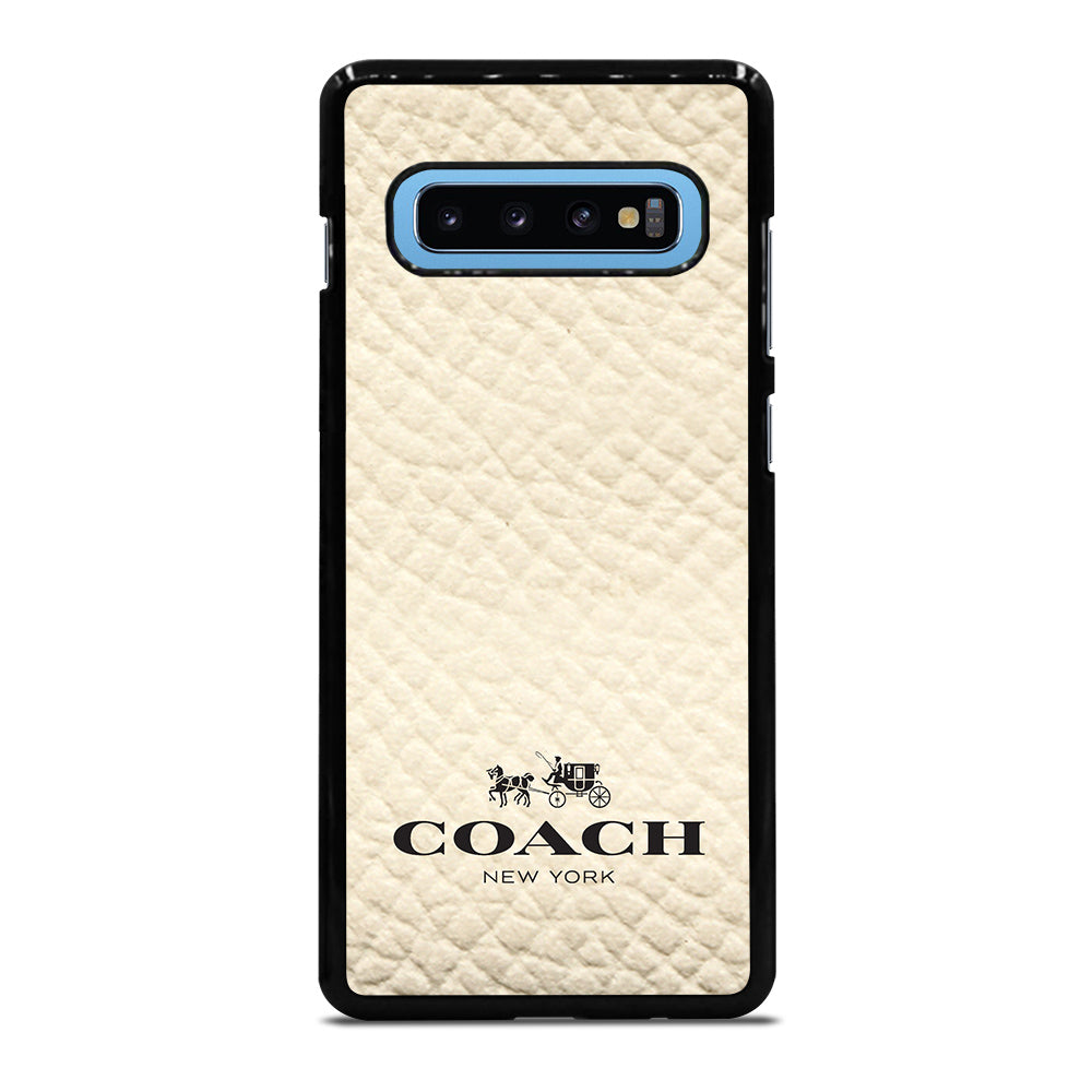 competitive price 1bf7c 69281 COACH NEW YORK WHITE Samsung Galaxy S10 Plus Case Cover - Favocase
