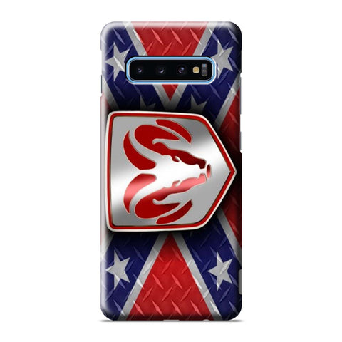 DODGE RAM REBEL FLAG PLATE Samsung Galaxy S6 S7 S8 S9 S10 S10e Edge Plus Note 8 9 10 10+ 3D Case Cover