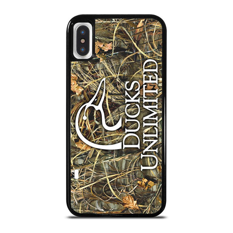 DUCKS UNLIMITED WETLANDS WATERFOWL CAMO-iphone-x-case-cover