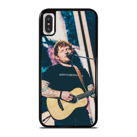 ED SHEERAN on GUITAR-iphone-x-case-cover