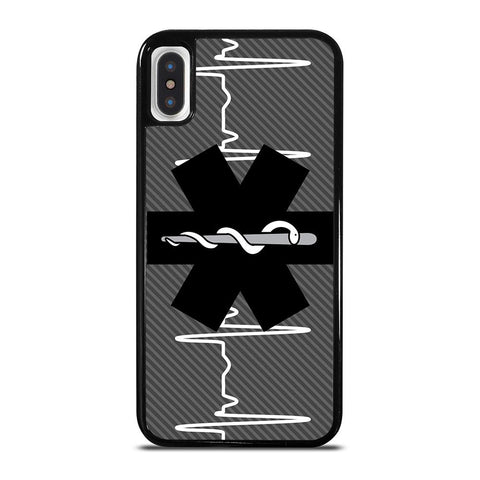 EMT EMS MEDICAL ICON Black-iphone-x-case-cover