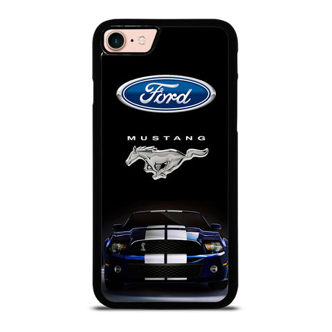 FORD MUSTANG CAR BLUE-iphone-8-case-cover