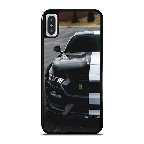 FORD MUSTANG SHELBY BLACK iPhone X / XS Case - Best Custom Phone Cover Cool Personalized Design