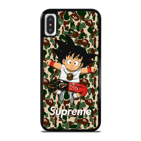 GOKU SUPREME BAPE SHARK CAMO iPhone X / XS Case - Best Custom Phone Cover Cool Personalized Design