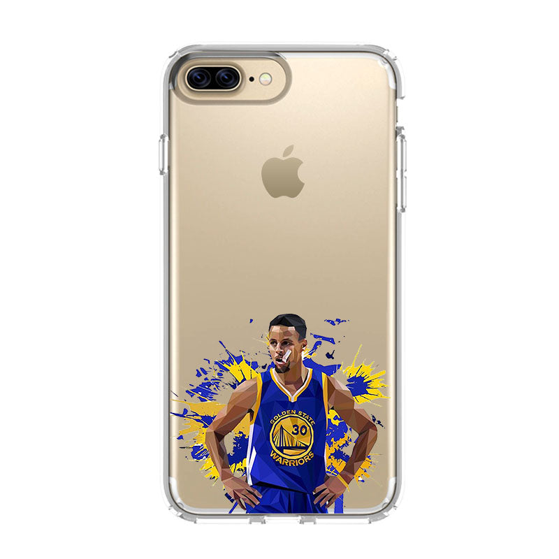 reputable site 2bda1 b5375 GOLDEN STATE WARRIORS STEPHEN CURRY ART iPhone 5/5S/SE 6/6S 7 8 Plus X/XS  Max XR Clear Case - Favocase