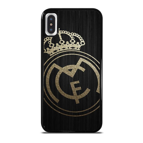 GOLD REAL MADRID LOGO-iphone-x-case-cover