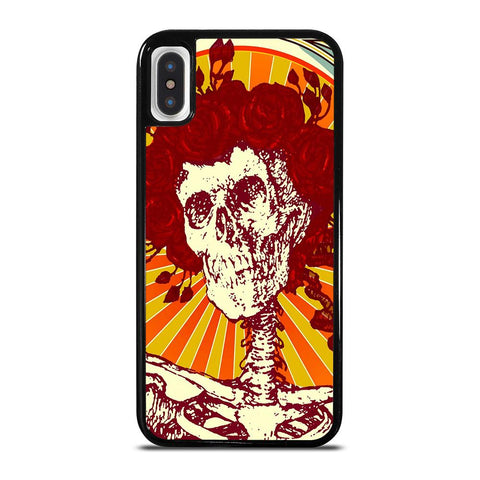 GRATEFUL DEAD SKULL ART-iphone-x-case-cover