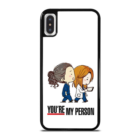 GREY' S ANATOMY YOU'RE MY PERSON iPhone X / XS Case - Best Custom Phone Cover Cool Personalized Design