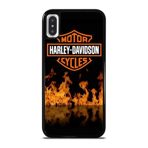 HARLEY DAVIDSON FIRE LOGO-iphone-x-case-cover