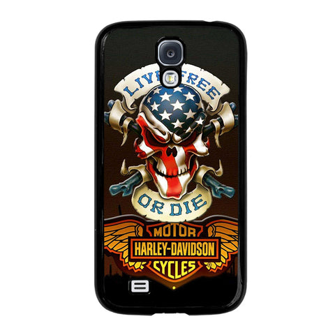 HARLEY DAVIDSON LIVE FREE OR DIE-samsung-galaxy-S4-case-cover