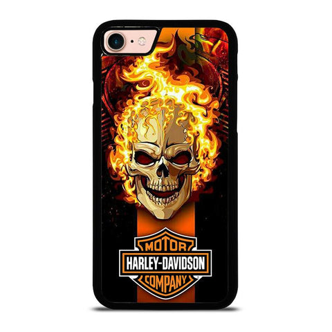 HARLEY DAVIDSON SKULL FIRE-iphone-8-case-cover