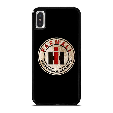 IH INTERNATIONAL HARVESTER FARMALL LOGO-iphone-x-case-cover