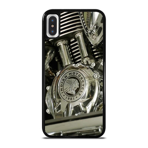INDIAN MOTORCYCLE LOGO ENGINE-iphone-x-case-cover