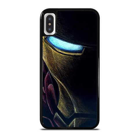IRONE MAN AVENGERS FACE ART,-iphone-x-case-cover