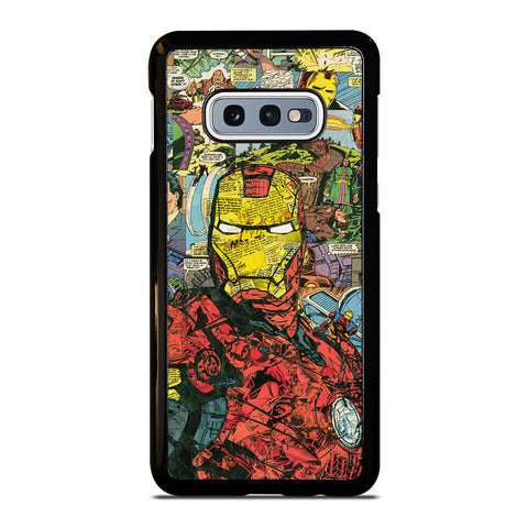 IRON MAN COMIC COLLAGE-samsung-galaxy-S10e-case-cover
