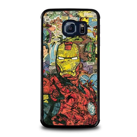 IRON-MAN-COMIC-COLLAGE-samsung-galaxy-s6-edge-case-cover