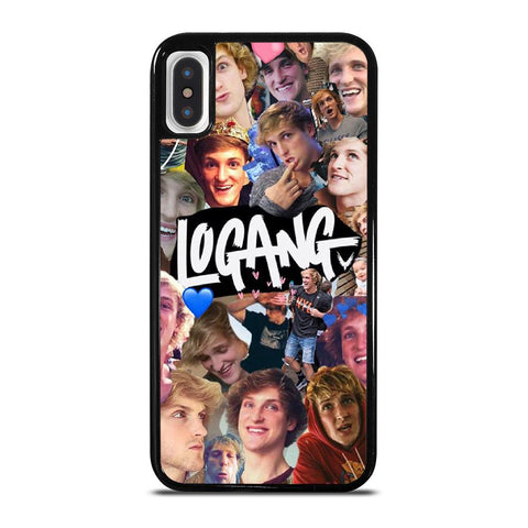 JAKE PAUL LOGANG COLLAGE-iphone-x-case-cover