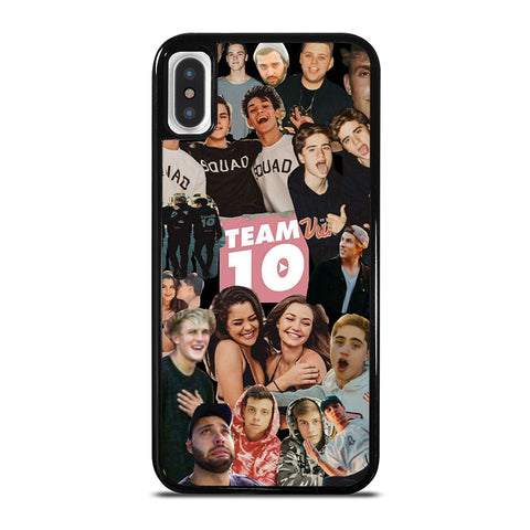 JAKE PAUL TEAM 10 COLLAGE iPhone X / XS Case - Best Custom Phone Cover Cool Personalized Design