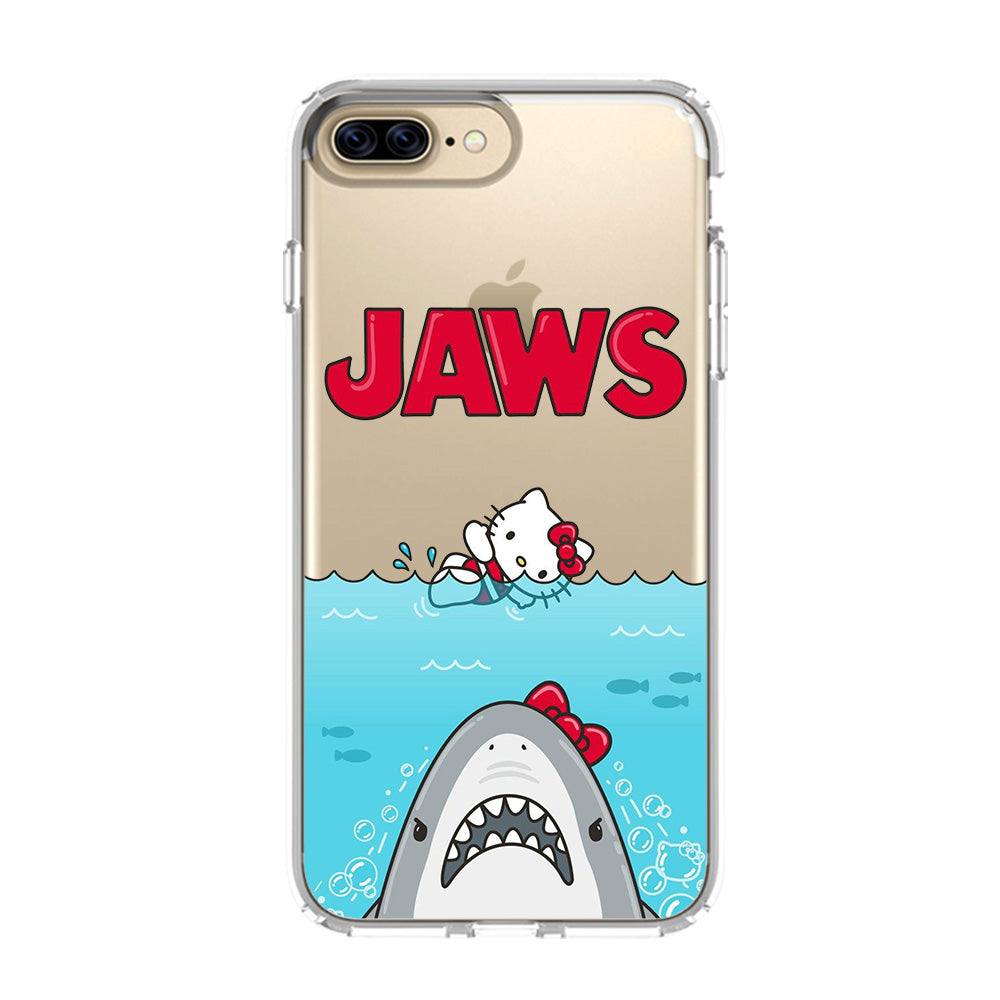 Jaws Hello Kitty Iphone 5 5s Se 6 6s 7 8 Plus X Xs Max Xr Clear Case Transparent Favocase