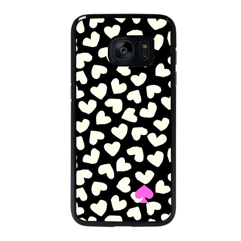 huge discount 39c51 b24c4 KATE SPADE LOVE HEART POLKADOTS Samsung Galaxy S7 Edge Case Cover - Favocase