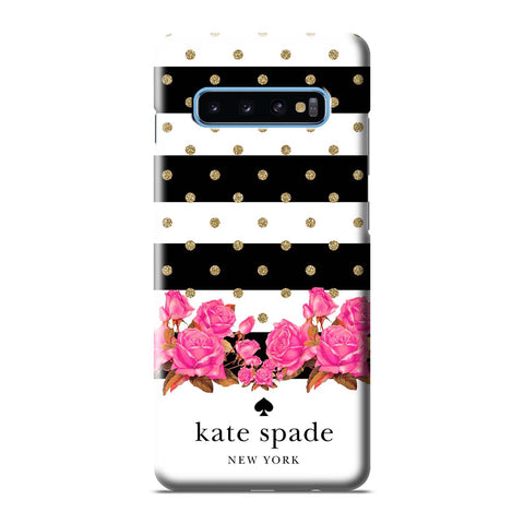 KATE SPADE NEW YORK FLORAL POLKADOTS Samsung Galaxy S6 S7 S8 S9 S10 S10e Edge Plus Note 8 9 10 10+ 3D Case Cover