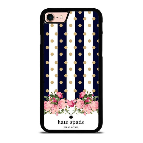 KATE SPADE NEW YORK POLKADOTS FLORAL-iphone-8-case-cover
