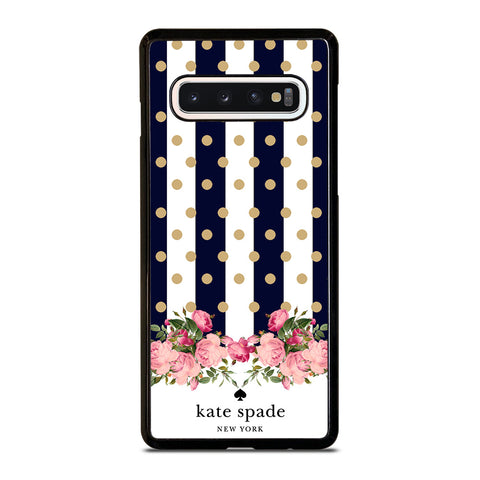KATE SPADE NEW YORK POLKADOTS FLORAL-samsung-galaxy-s10-case-cover