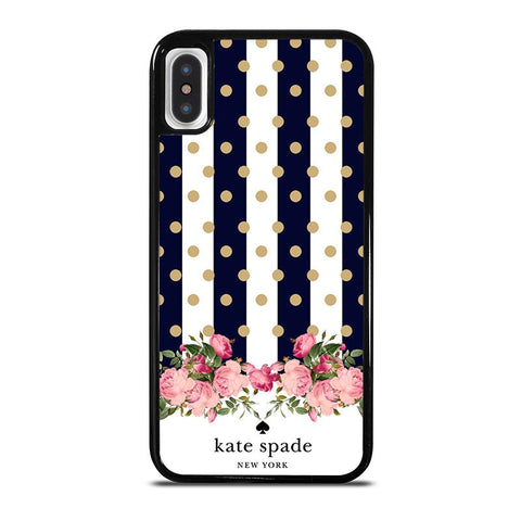 KATE SPADE NEW YORK POLKADOTS FLORAL-iphone-x-case-cover