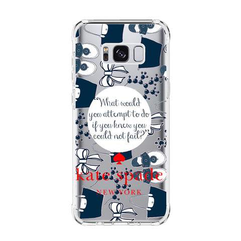 KATE SPADE Samsung Galaxy S5 S6 Edge S7 S8 S9 S10 Plus S10e Transparent Clear Case Cover